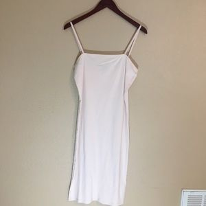 Nude color body con topshop dress sz 8 great basic